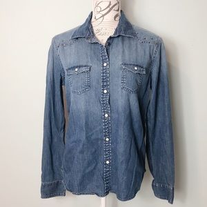 American Eagle Outfitters denim western shirt
